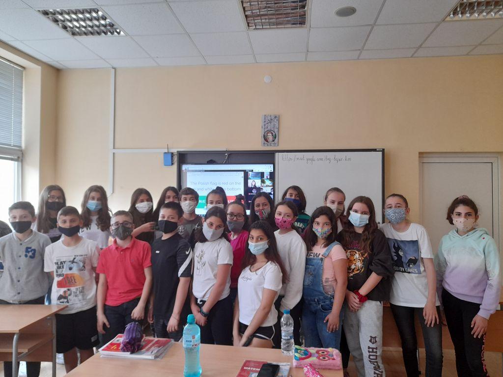 ОУ Васил Левски участва във втора международна онлайн среща - голяма снимка